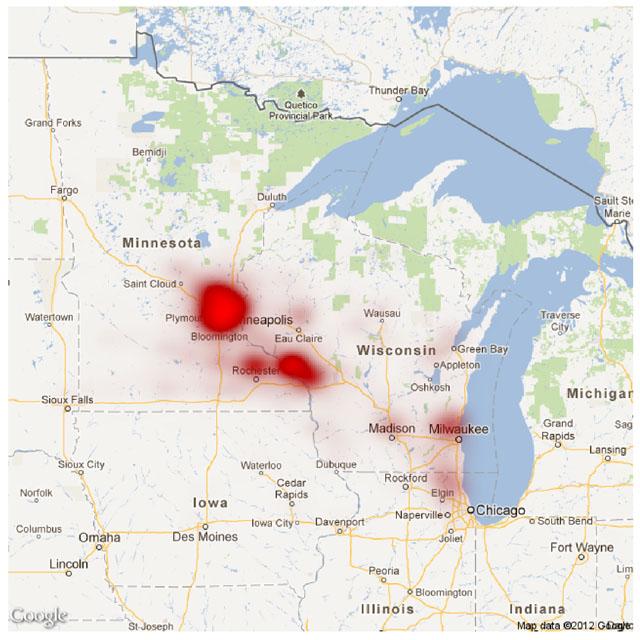 Winona NEF map